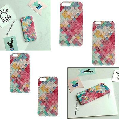 Glitter Fish Scale Hard Phone Protection Back Case Cover for iPhone 6 6s LG