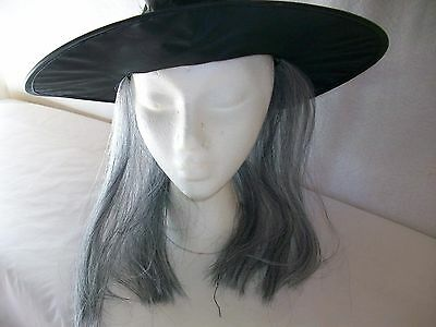 Black Witch With Gray Hair Accessory Ages 3+ Halloween Costume Theater