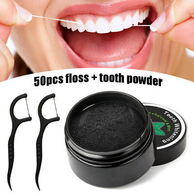 1 Set Dental Floss Tooth Whitening Powder Kit Oral Care Teeth Cleaning Tools