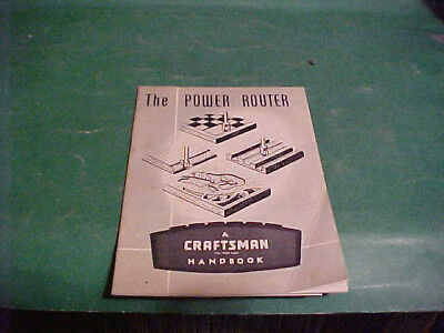 Sears Craftsman 1963 Handbook Instructions Power Router