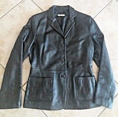 Giacca vera pelle made in Italy donna classic casual jacket woman vintage 1e42e20fe93