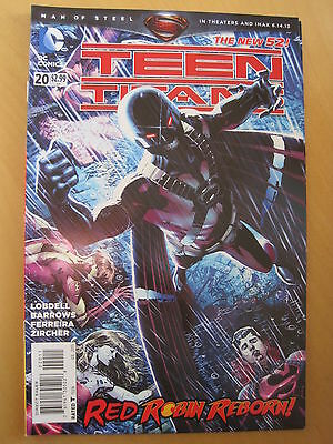 TEEN TITANS  # 20  by LOBDELL & BARROWS.    THE NEW 52 !     DC.  2013