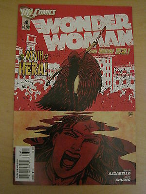 WONDER WOMAN  #  4.  By BRIAN AZZARELLO & CLIFF CHIANG. THE NEW 52.  DC. 2012