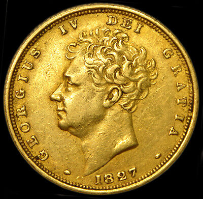 King George The Iv 1827 Gold Sovereign...