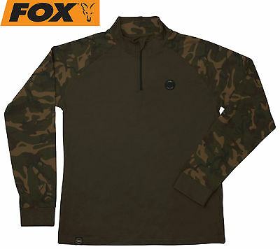 Fox Camo Dark Khaki Edition Long Sleeve T-Shirt - Shirt zum Karpfenangeln, Hemd