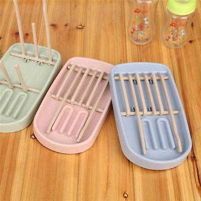 1 PC Baby Milk Bottle Cleaning Drying Rack Easy Clean Holder Shelf Nipple W
