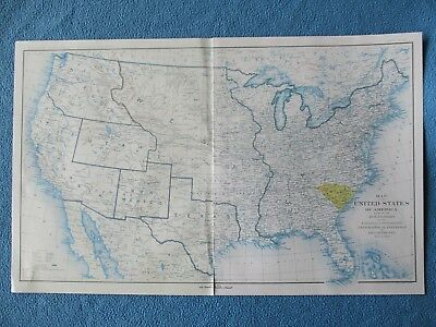 "Civil War ""Map of United States,Showing Confederate & Union Boundaries, Dec.1860"