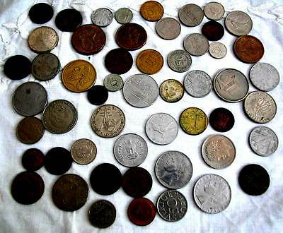 A Big Lot Of Coins& Paper Money From All Over The World
