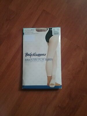 Body Wrappers A31 Convertible Foot Tights color SUN size L/XL Adult
