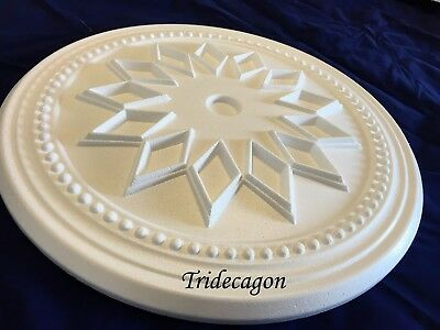 Tridecagon Ceiling Rose Polystyrene Easy Fit Very Light Weight Starting £10.99