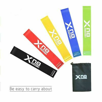 Xn8 RESISTANCE BANDS WORKOUT EXERCISE YOGA 11 PIECE SET CROSSFIT FITNESS TUBES