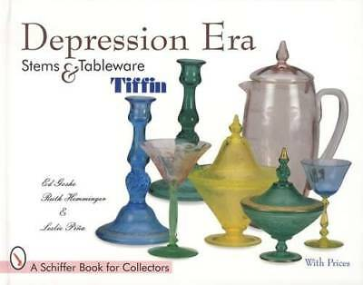 Tiffin Glass Depression Era Stems, Etched Patterns, Tableware Collector Guide