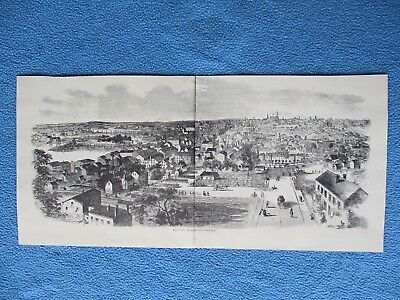 "Harper's Weekly Civil War Print - ""The City of Richmond, Virginia"" - FRAME IT"