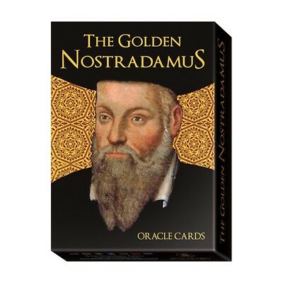 Golden Nostradamus Oracle NEW Sealed 32 color with foil cards 128 pg booklet