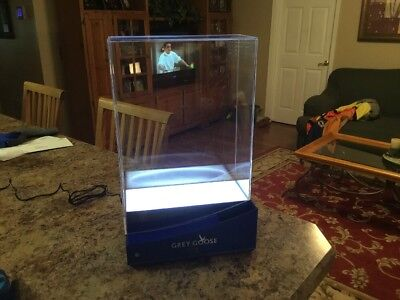 Grey Goose VX Vodka Lighted/ Locking Acrylic Display Cabinet Ver B NIB Free Ship