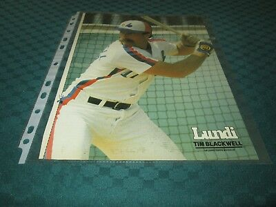 Montreal Expos Lot 15    Poster 8 By 11   From Magazine On Lundi