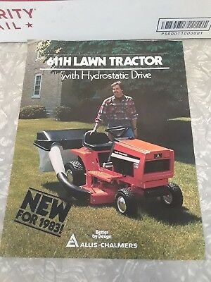 ALLIS-CHALMERS 611 h lawn tractor Booklet 1982