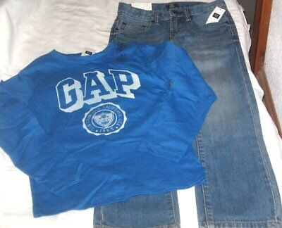 NWT Boys 7 GAP 2 Pc Outfit Jeans and Long Sleeve Top NEW