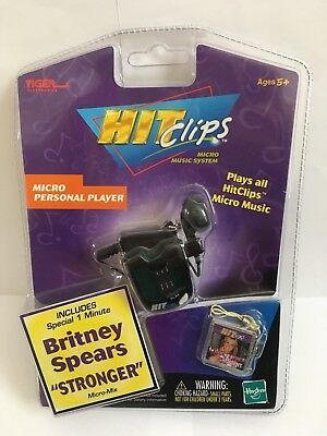 Britney Spears Stronger Micro Mix Personal Player Hit Clips BNIP Hasbro Tiger