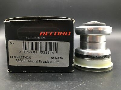 "Vintage Campagnolo Record Headset Threadless Nib 1 1/8"" (Serie Sterzo) Carbon"