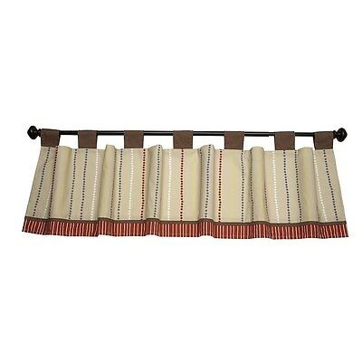NoJo by Jill McDonald Window Valance Nursery Brown Polka Dot Red Baby Infant