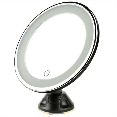 7X Magnifying LED Make Up Mirror Light Illuminated Round Cosmetic Suction Base