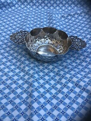 Victorian Sheffield Magento Silver PLATED PORRINGER Bowl By William Hutton & Son