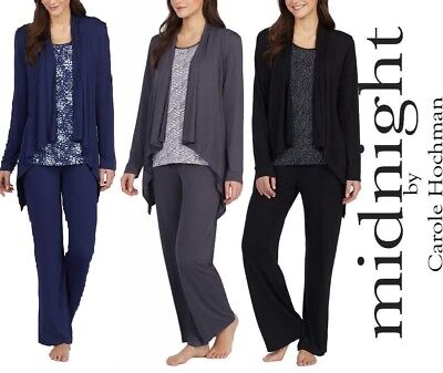 Midnight by Carole Hochman Ladies' 3-piece Pajama Set, Pick SIZE & COLOR, NWT