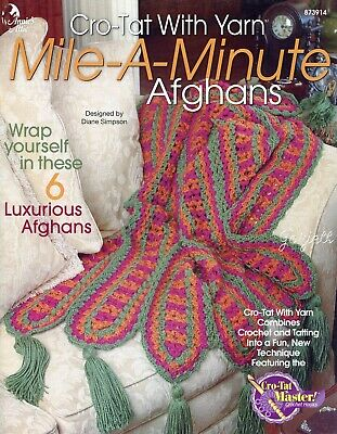 Mile A Minute Afghans Cro Tat With Yarn Annies Crochet Patterns