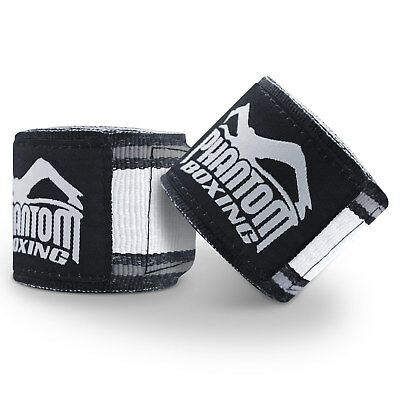 Phantom Athletics Bandagen 4,5 m MT PRO - schwarz/weiß 450 Kampfsport Boxen Box