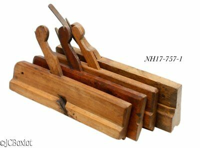 Antique Rural Wood Wooden Molding Planes Carpenter Tools Lot