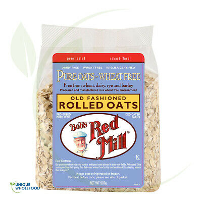Bob`s Red Mill Organic Rolled Oats Pure Wheat Free 907g