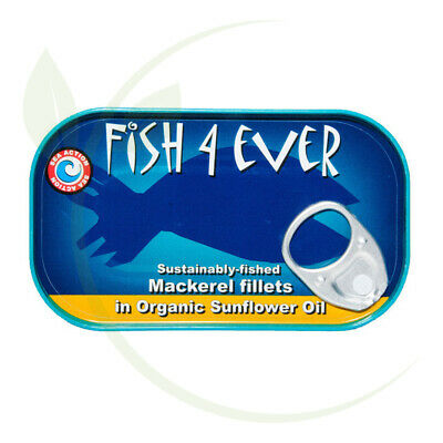 Fish4Ever Mackerel Fillets in Organic Sunflower Oil ~ 120g