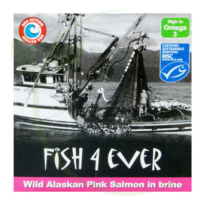 Fish4Ever Wild Alaskan Pink Salmon in Brine ~ 160g