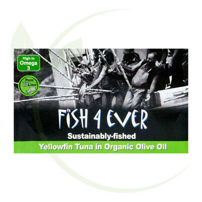 Fish4Ever Yellowfin Tuna in Organic Olive Oil ~ 120g