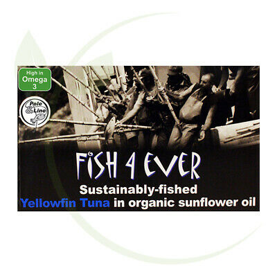 Fish4Ever Yellowfin Tuna in Organic Sunflower Oil ~ 120g