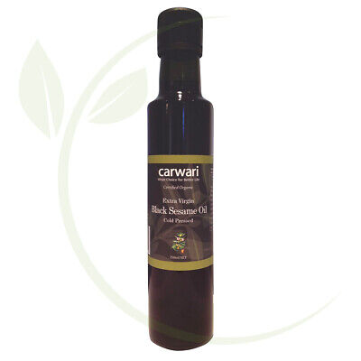 Carwari Organic Black Sesame Oil Extra Virgin & Cold Pressed 250ml