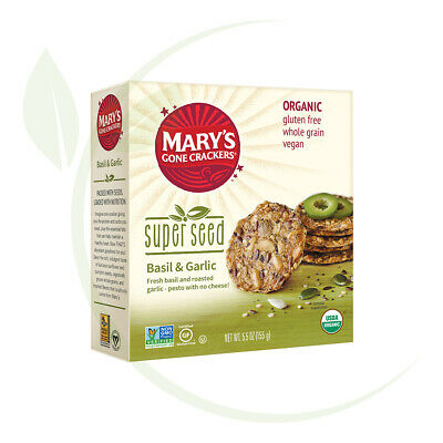 Mary's Super Seed Basil & Garlic Crackers 155gm