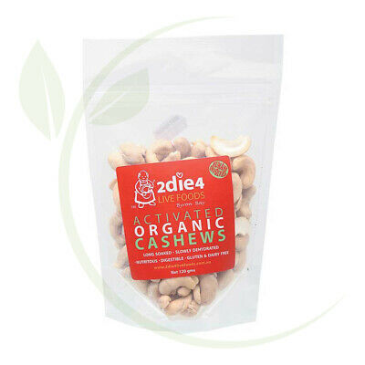 2DIE4  Activated Organic Cashews - 120g