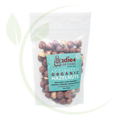 2DIE4  Activated Organic Hazelnuts - 120g