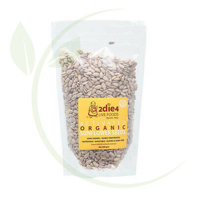 2DIE4 Activated Organic Sunflower Seeds - 200g