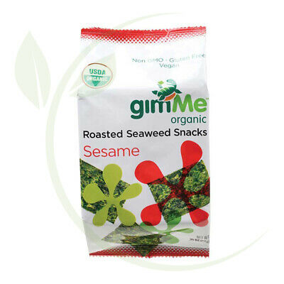 Organic Roasted Seaweed Snacks Sesame - 10g