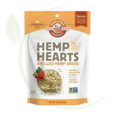 Hemp Hearts - Shelled Hemp Seeds Natural 454g