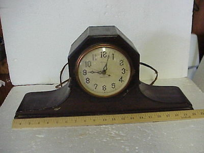 Antique New Haven Electric Tambour No 26 Chime Clock parts repair F