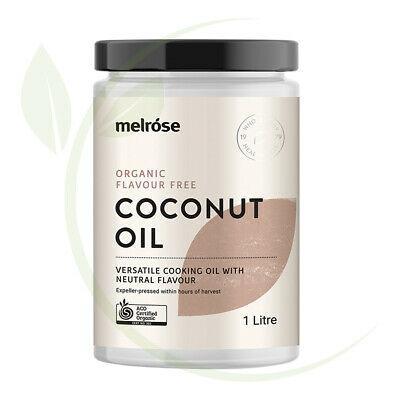Melrose Organic Flavour Free Coconut Oil 1ltr