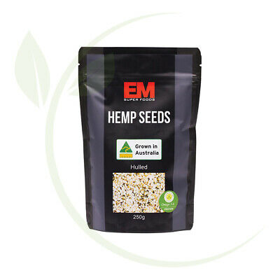 Em Superfoods Australian Hulled Hemp Seeds 250g