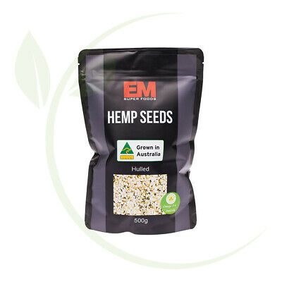 Em Superfoods Australian Hulled Hemp Seeds 500g