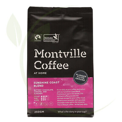 Montville Coffee Sunshine Coast Plunger Ground - 250gm
