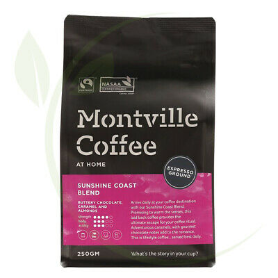 Montville Coffee Sunshine Coast Espresso Ground - 250g