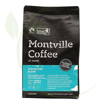Montville Coffee Woodford Plunger Ground - 250g